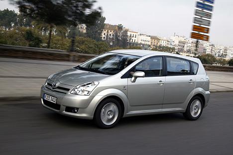 Toyota Corolla Verso - Abmessungen & Technische Daten - Länge, Breite, Höhe, Gepäckraumvolumen