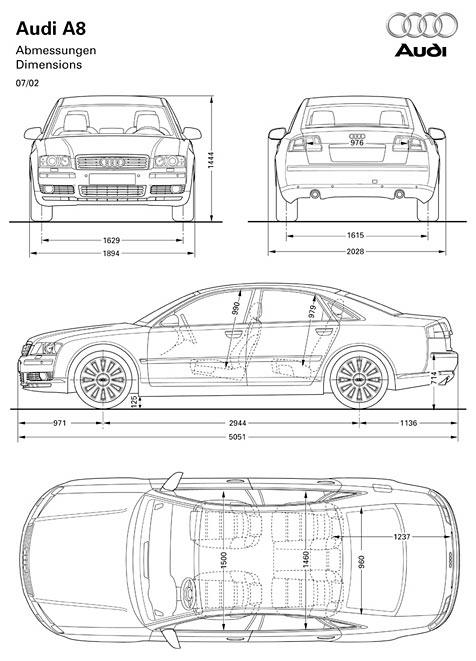 Audi A8 - Abmessungen & Technische Daten - Länge, Breite ...