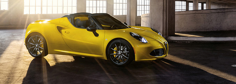 alfa romeo 4c spider abmessungen technische daten. Black Bedroom Furniture Sets. Home Design Ideas