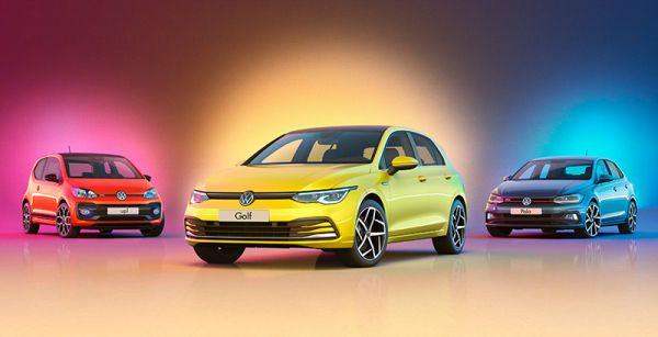 Sieger of Best Cars 2020: VW up!, Polo und Golf. Bild: VW