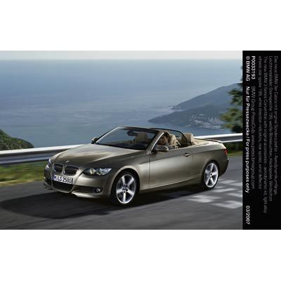 original bmw zubeh r f r das neue bmw 3er cabrio offen. Black Bedroom Furniture Sets. Home Design Ideas